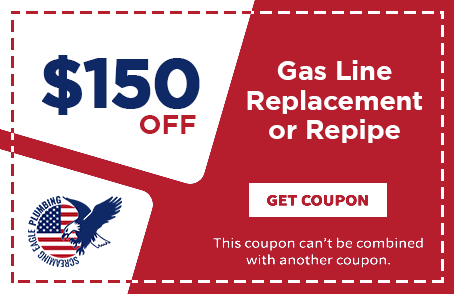 Coupon for Screaming Eagle Plumbing | Gas line replacement Repiping